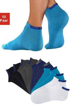 h.i.s korte sokken (set van 10 paar) met verstevigde drukzones blauw