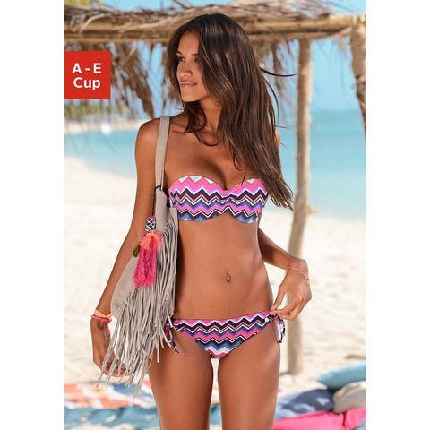 Lascana bandeau-bikinitop PICO met trendy zigzagmotief