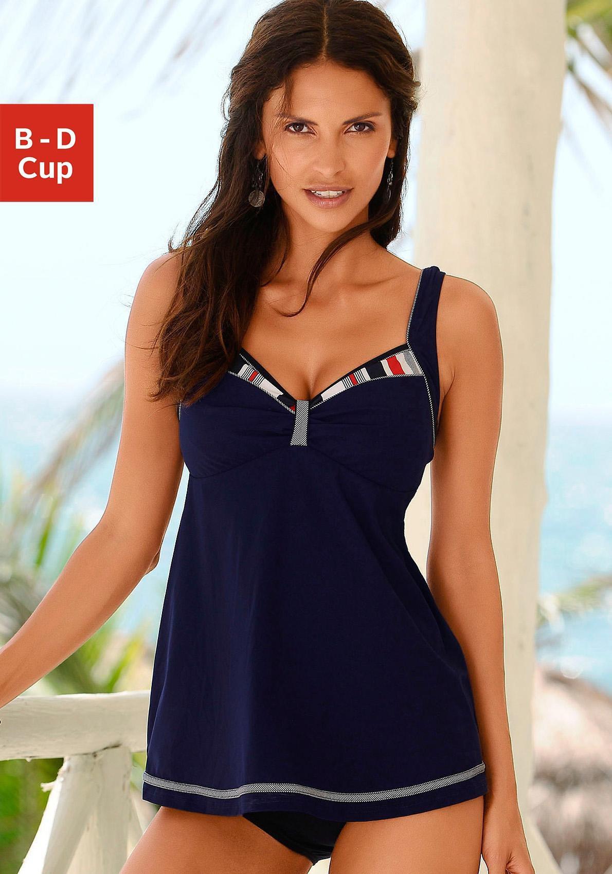 Sunflair tankini met gedessineerde contrastinzetten bij Lascana online kopen