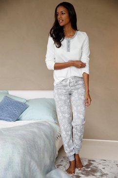 pyjama met knoopsluiting en gedessineerde broek
