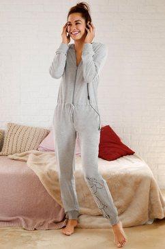Home jumpsuit met print op de pijp