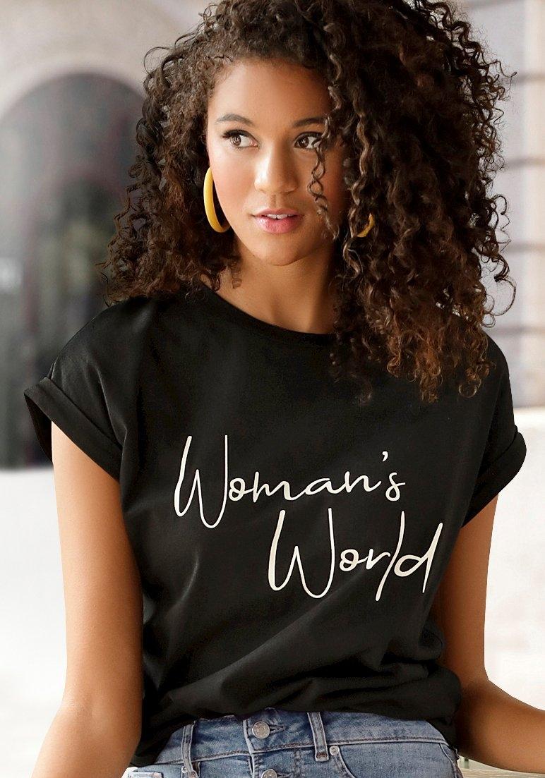 Lascana T-shirt met frontprint in de webshop van Lascana kopen