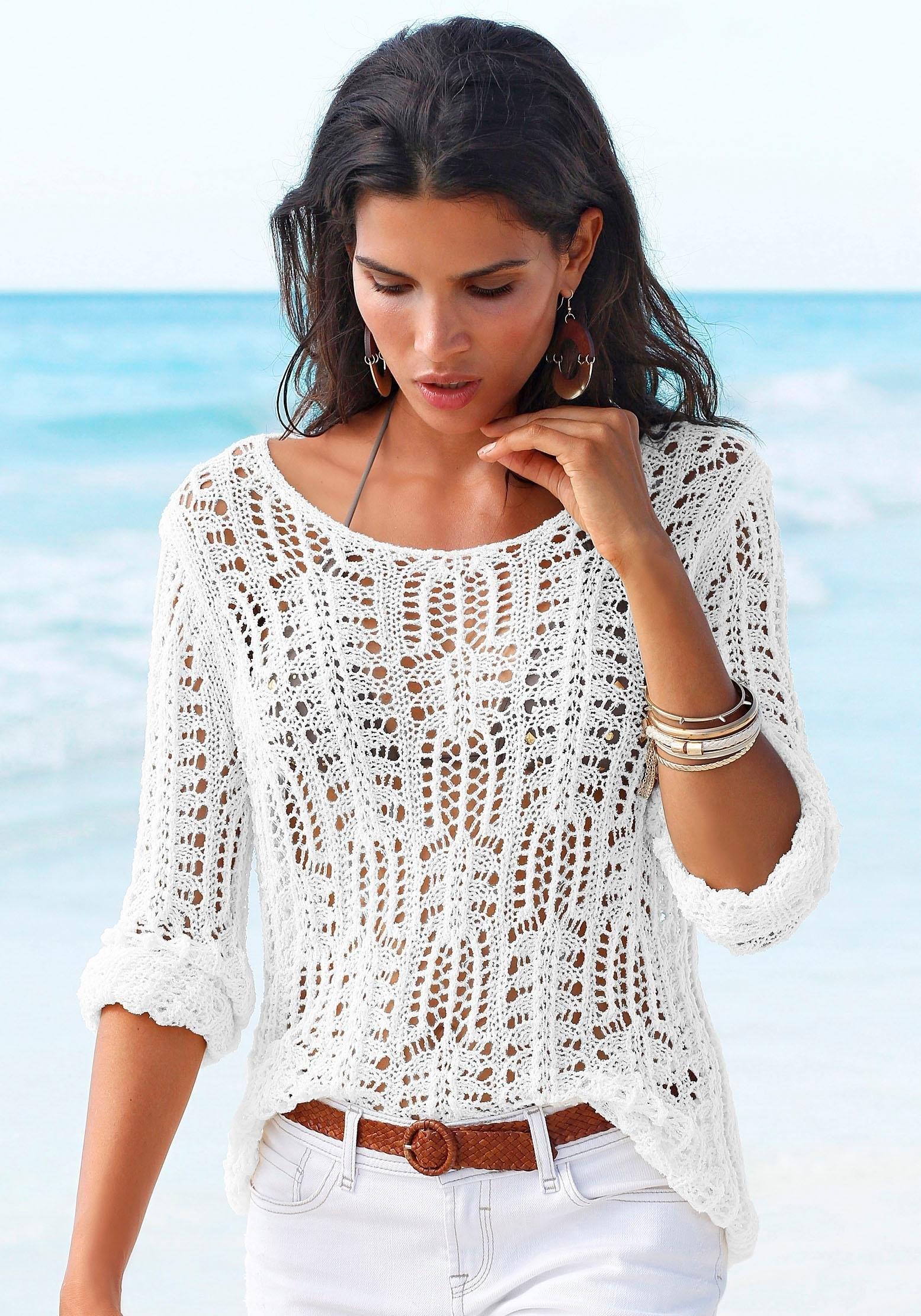 s.Oliver RED LABEL Beachwear strandtrui goedkoop op lascana.nl kopen