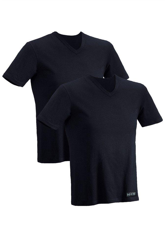 H.I.S shirt met korte mouwen (set van 2) van katoen voordelig en veilig online kopen