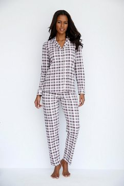 geruite pyjama in klassiek model