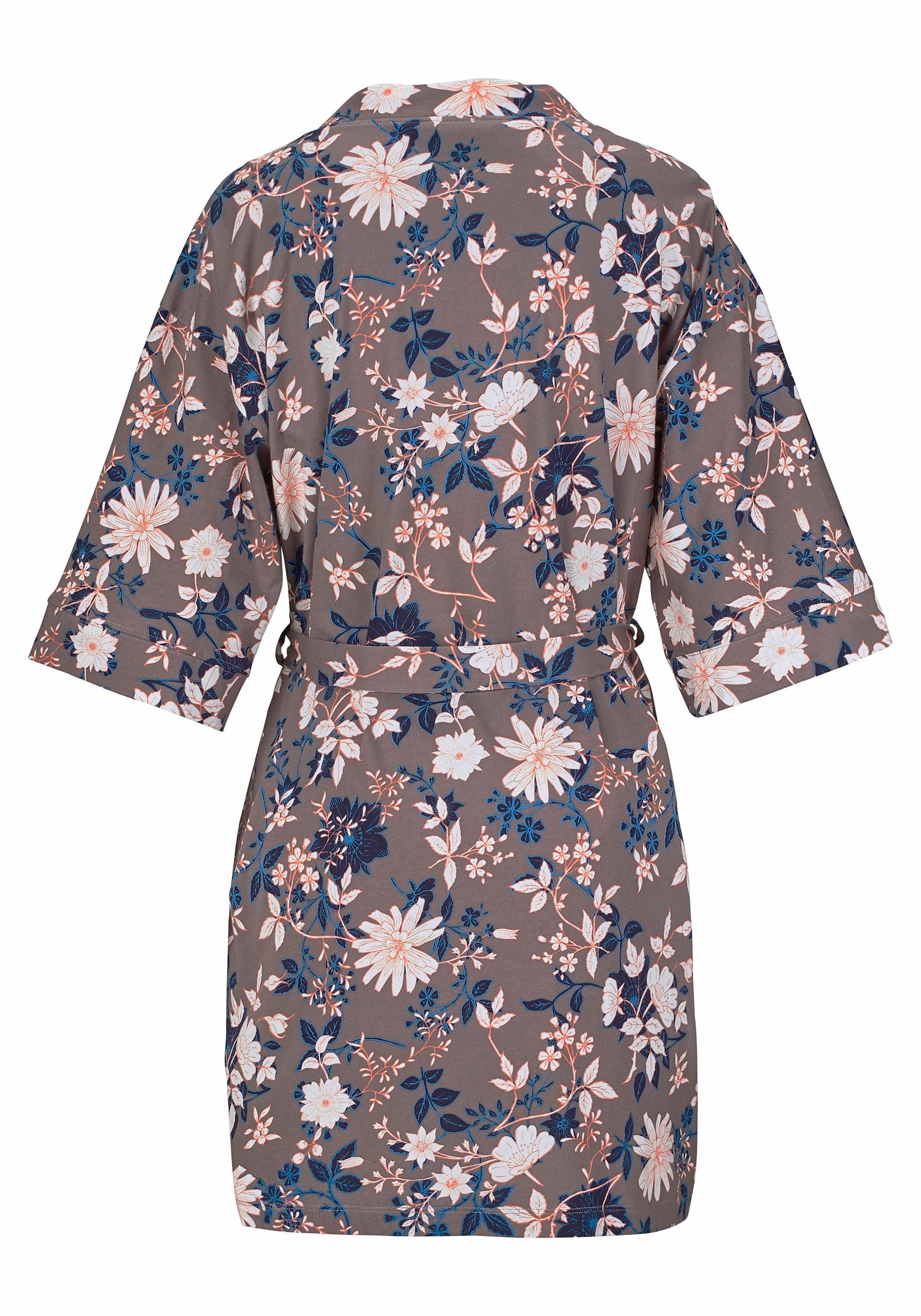 Webshop Label Kimono S Bodywear De Red In oliver Bloemenprint Met ZPkiTOuX