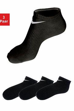 nike sneakersokken met middenvoetelastiek (3 paar) zwart