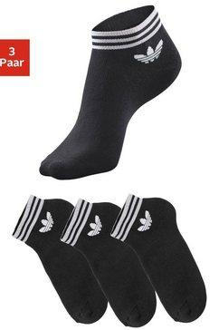 adidas originals sneakersokken met frotté (3 paar) zwart