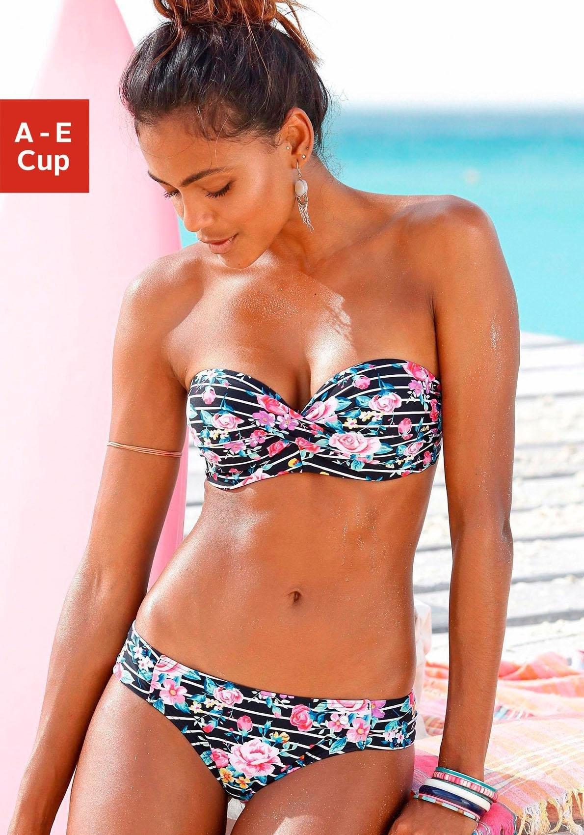 S.oliver Red Label Beachwear beugelbikini in bandeaumodel met bloemenprint voordelig en veilig online kopen
