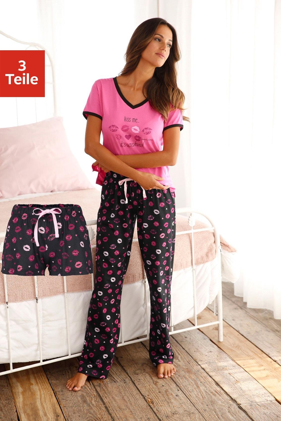 a042d51dd4a ... Dreams pyjama in overhemd-look, Arizona pyjama in college-look met  folieprint, H.I.S pyjama, Vivance Dreams pyjama in klassiek model met  reverskraag