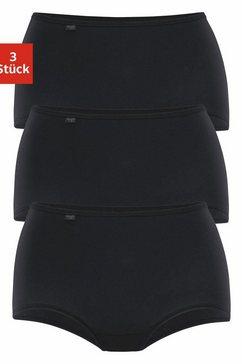 sloggi tailleslip 24-7 cotton met elastisch muizentandrandje (3 stuks) zwart