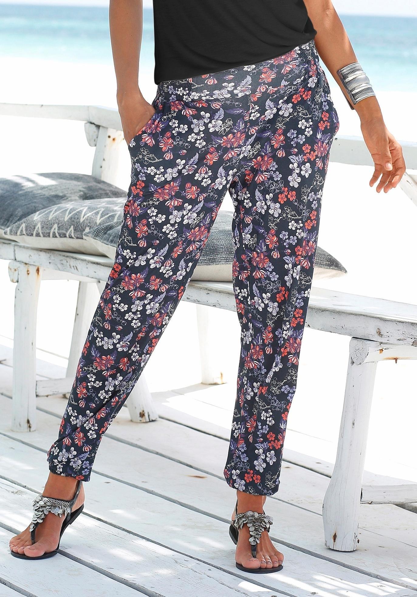 s.Oliver RED LABEL Beachwear strandbroek met bloemenprint bij Lascana online kopen