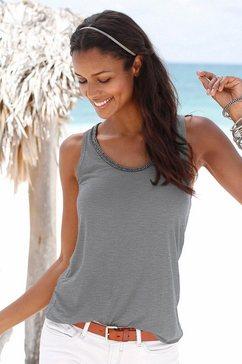 Beachwear top met glitterdetail