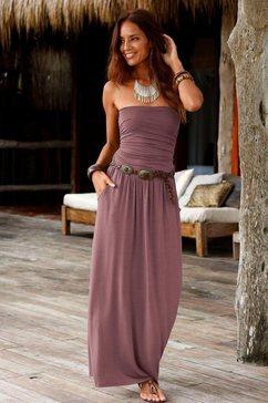 lascana maxi-jurk bruin