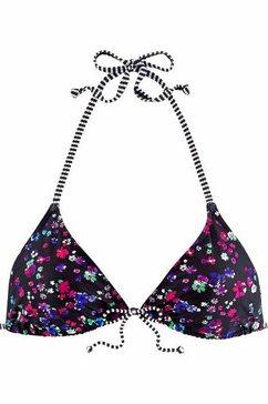 s.oliver beachwear bikinitop in triangelmodel »leni« zwart