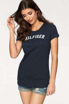 tommy hilfiger t-shirt met logoprint blauw
