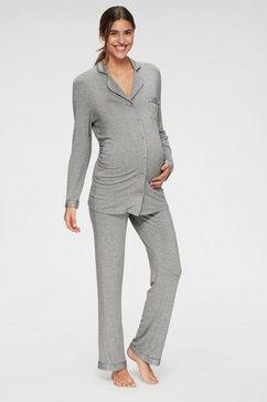 lascana zwangerschapspyjama grijs