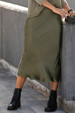 lascana geweven rok groen