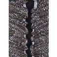 lascana badpak met trendy animal-print bruin