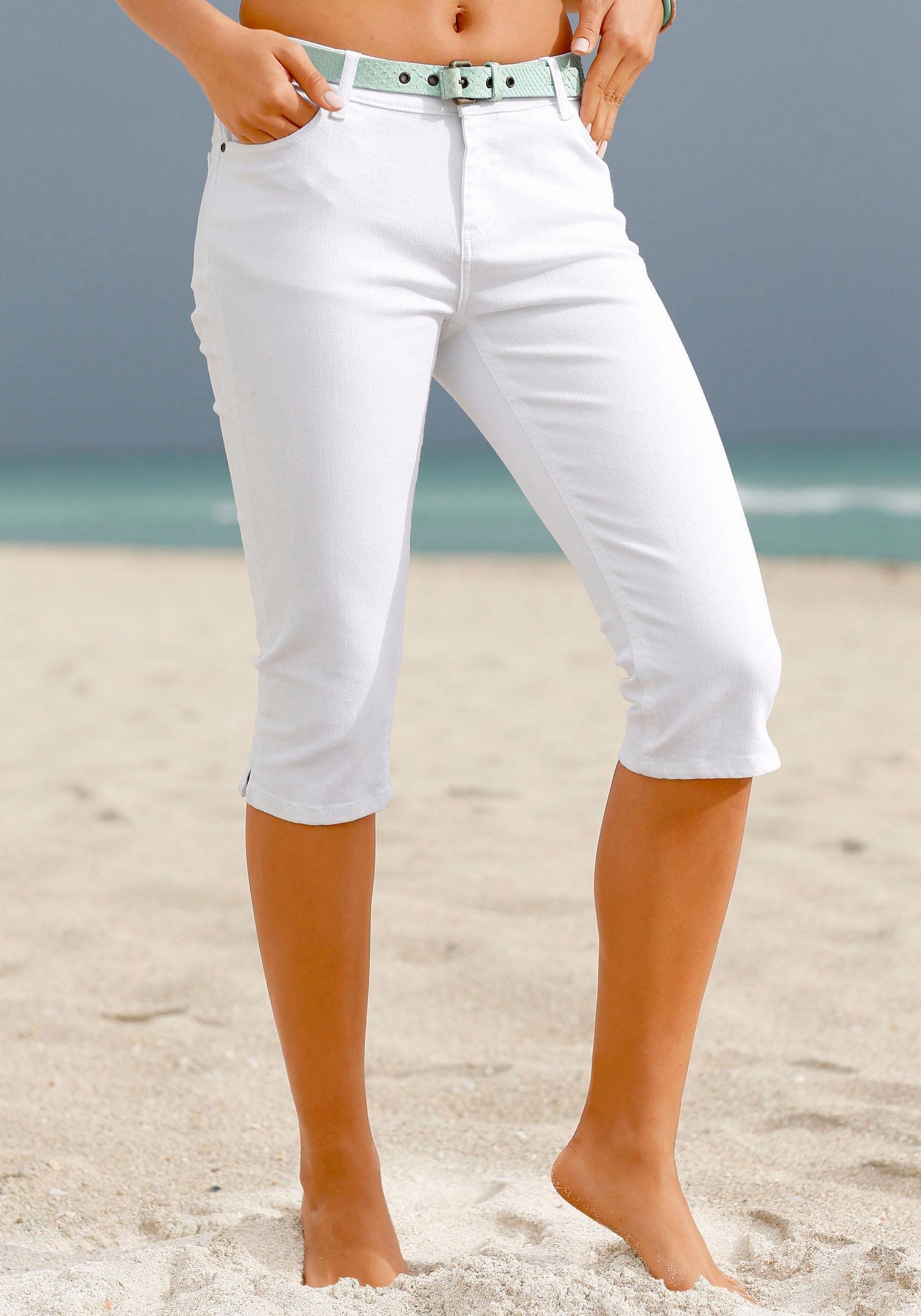 beachtime 7/8-capri-jeans online kopen op lascana.nl