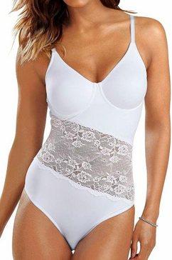 T-shirt-body met beugels en asymmetrische kanten inzet