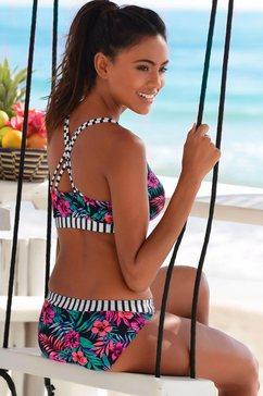 venice beach bustier-top »summer« blauw
