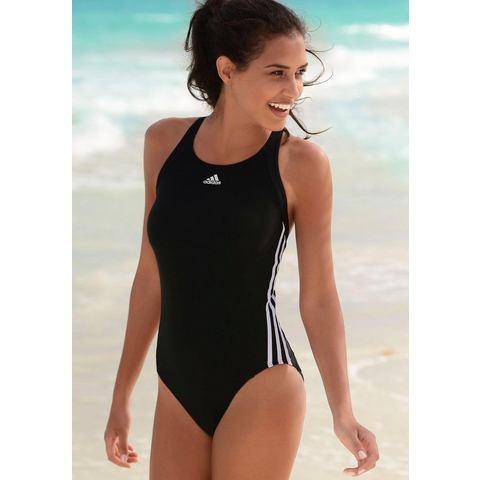adidas 3-Stripes Badpak, Zwart, 44, Female, Zwemmen
