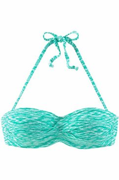venice beach bandeau-bikinitop met vullingen groen