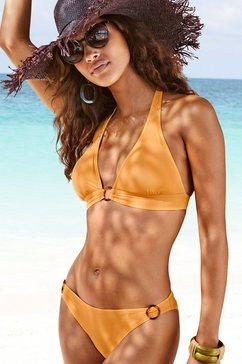 s.oliver red label beachwear triangel-bikinitop rome met brede boord geel