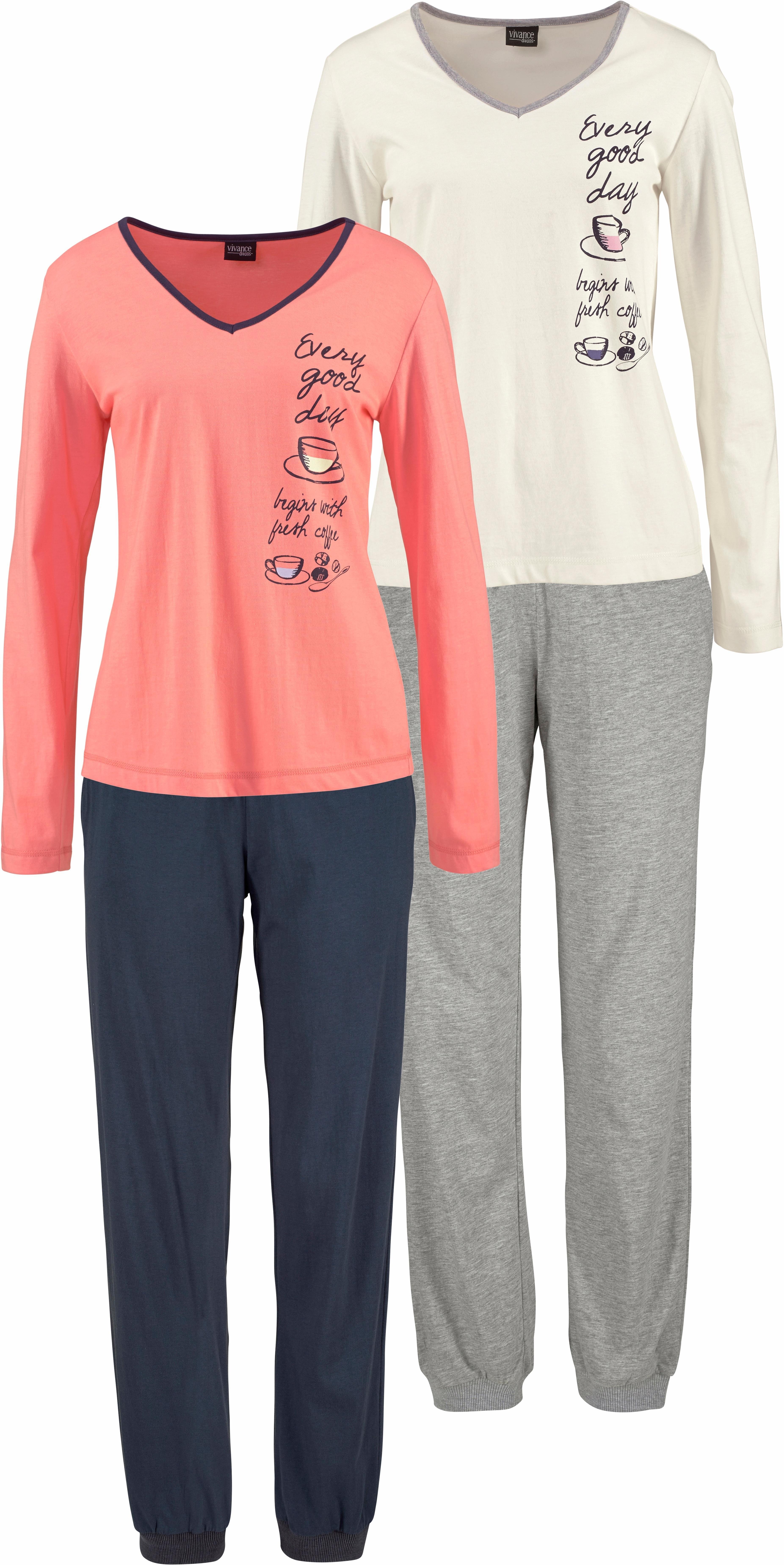 Vivance Collection VIVANCE DREAMS Pyjama in set van 2 veilig op lascana.nl kopen