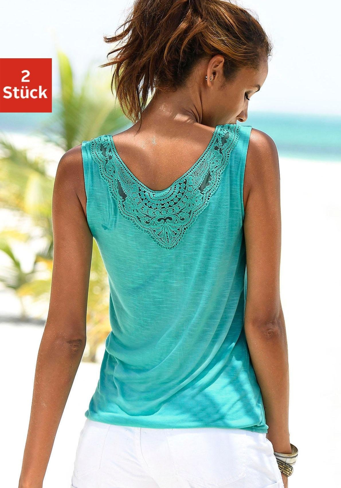 beachtime tanktop (set van 2) nu online kopen bij Lascana