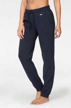 pantalon détente lascana avec poches en biais sur les côtés blauw