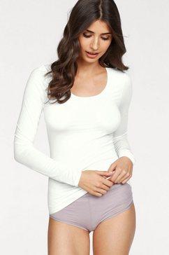 schiesser shirt met lange mouwen personal fit beige