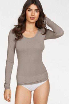 schiesser shirt met lange mouwen »personal fit« bruin