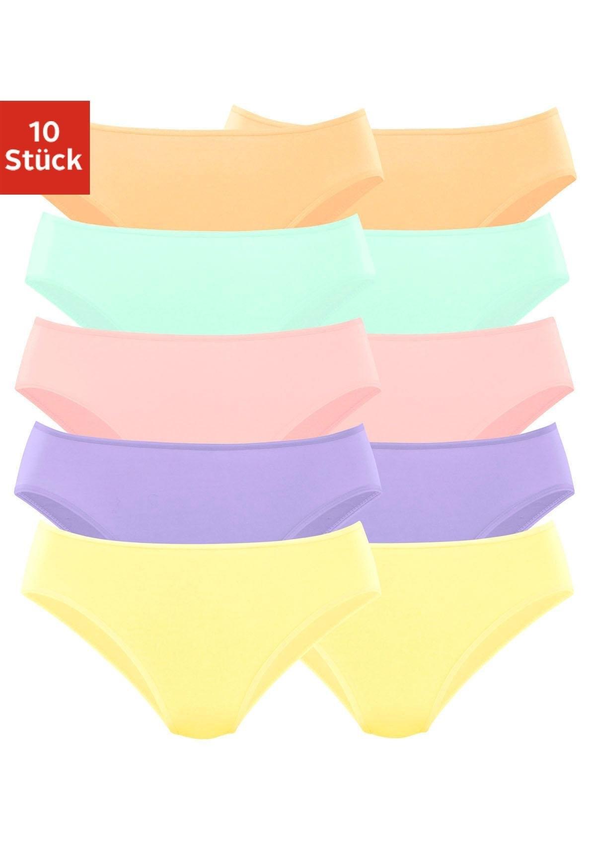 Go In Bikinislip, set van 10 bij Lascana online kopen