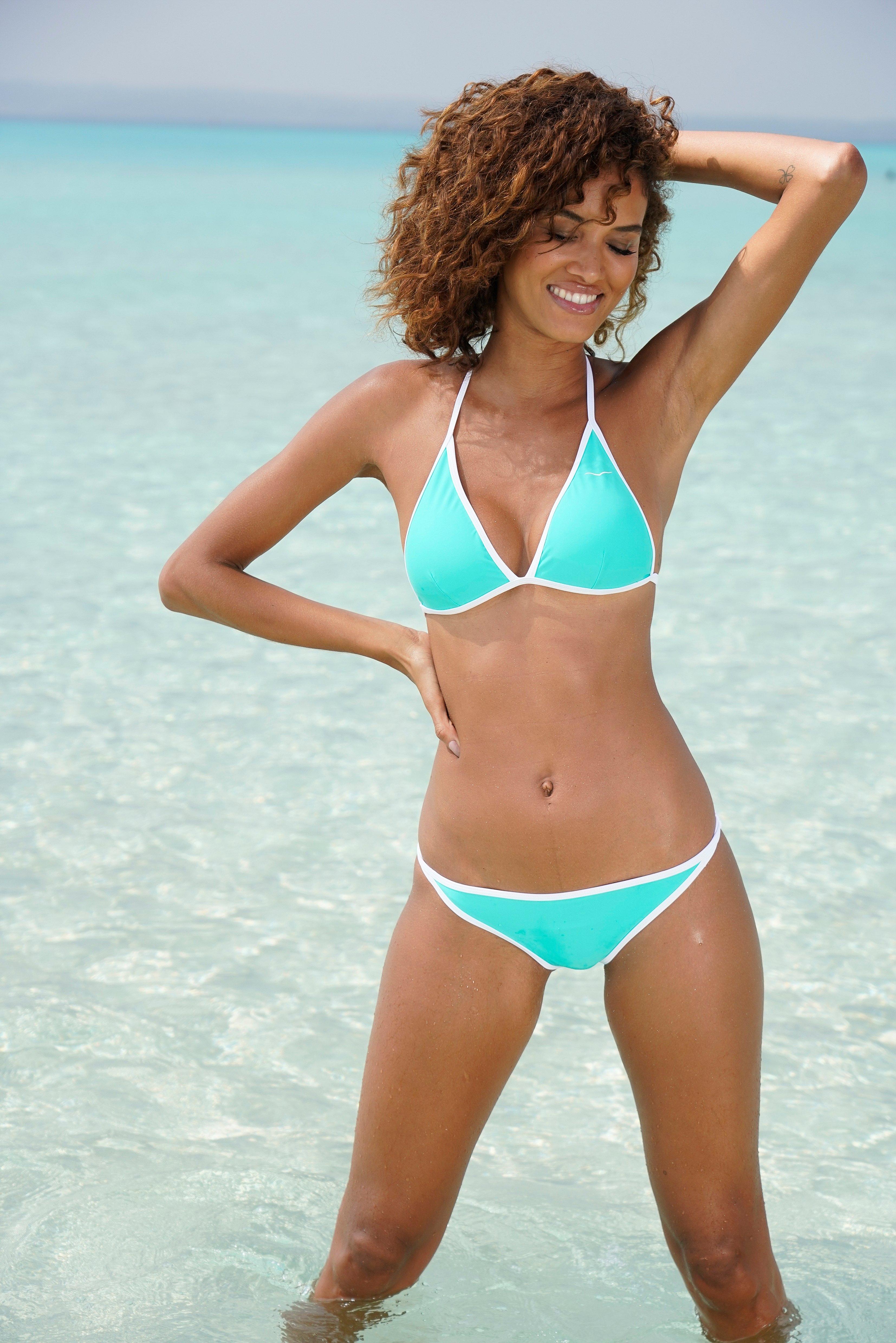 Op zoek naar een Venice Beach triangel-bikinitop L.A. met contrast-piping? Koop online bij Lascana