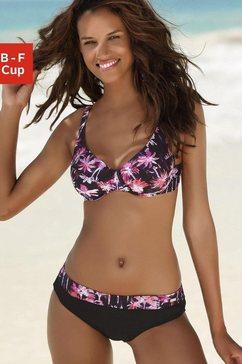 venice beach beugelbikini met palmenprint roze