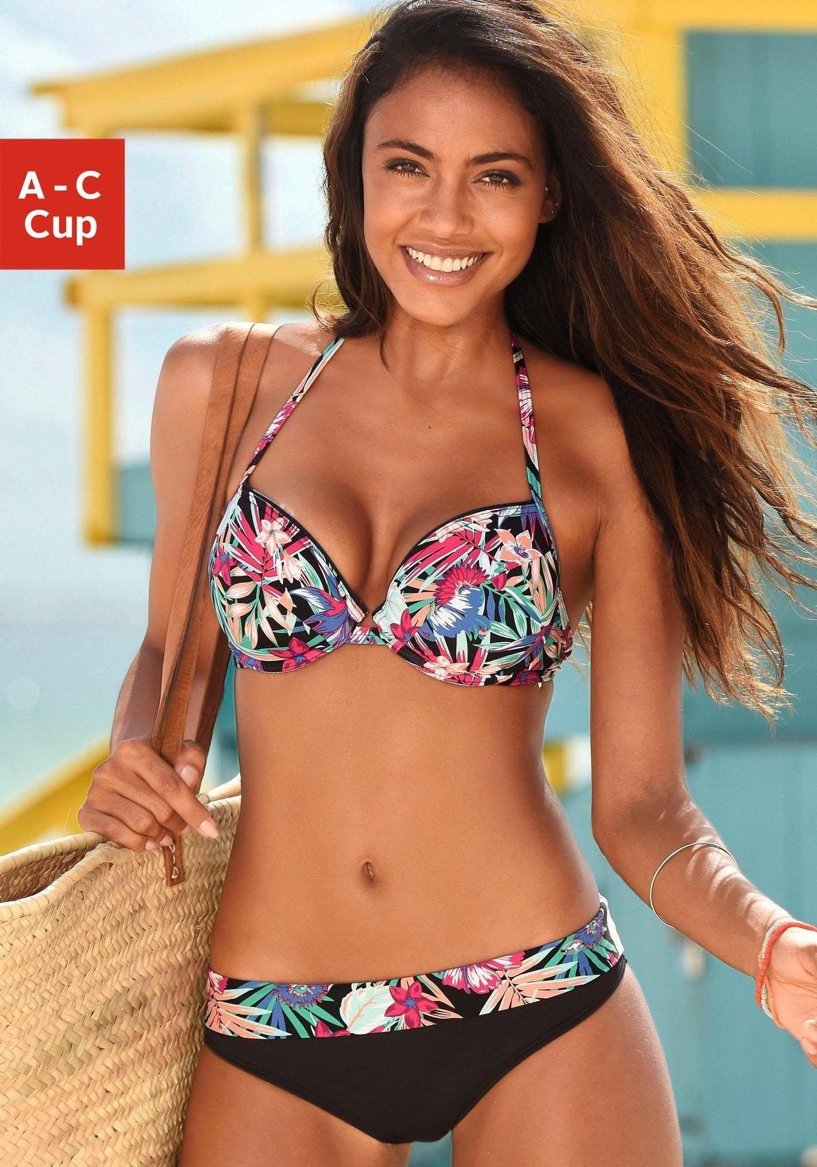 Op zoek naar een KangaROOS push-uptop »Bali« met trendy tropical-print? Koop online bij Lascana