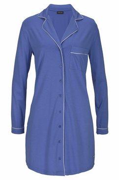 lascana nachthemd in klassiek overhemdmodel paars