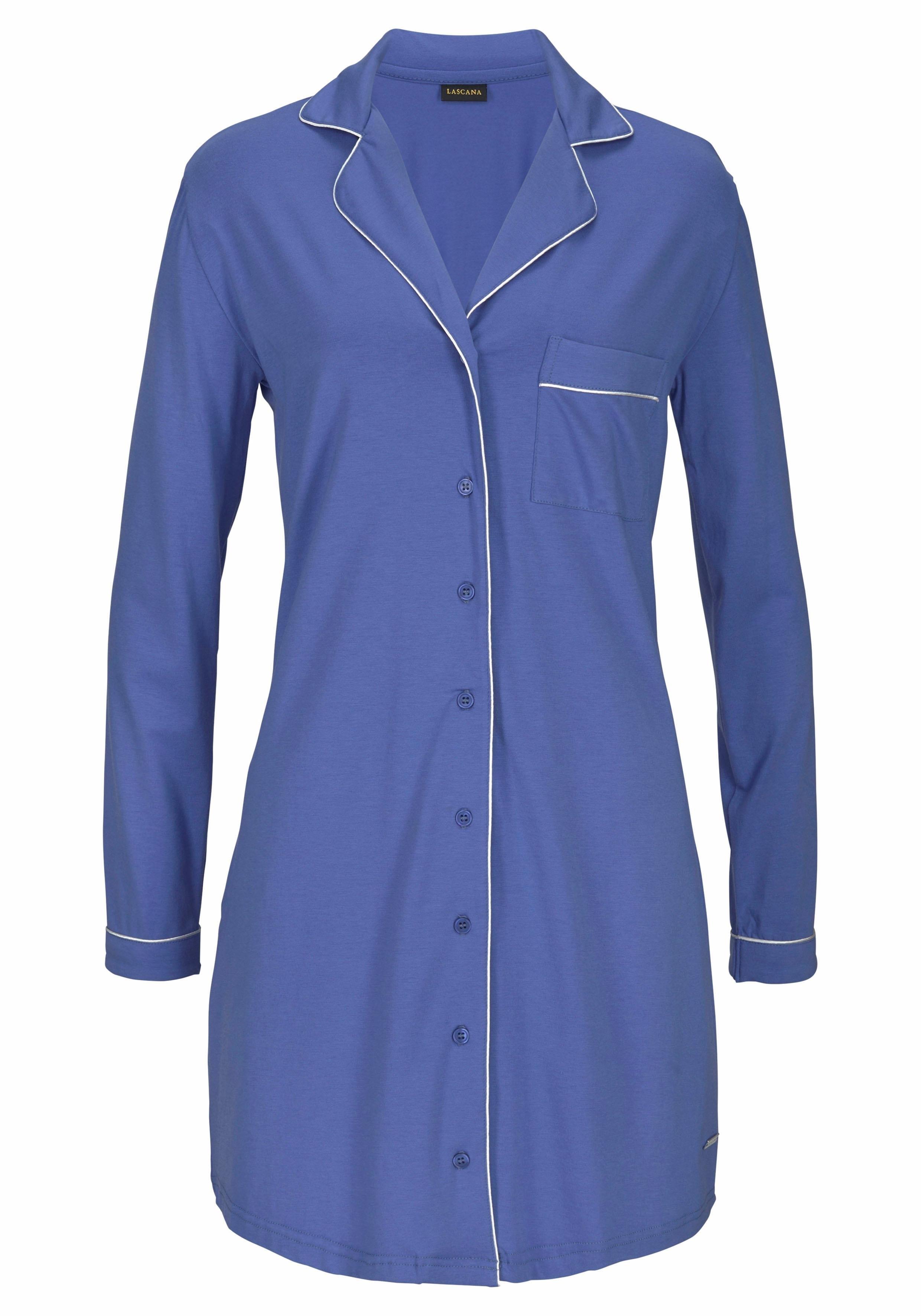 Lascana Nachthemd in klassiek overhemdmodel in de webshop van Lascana kopen