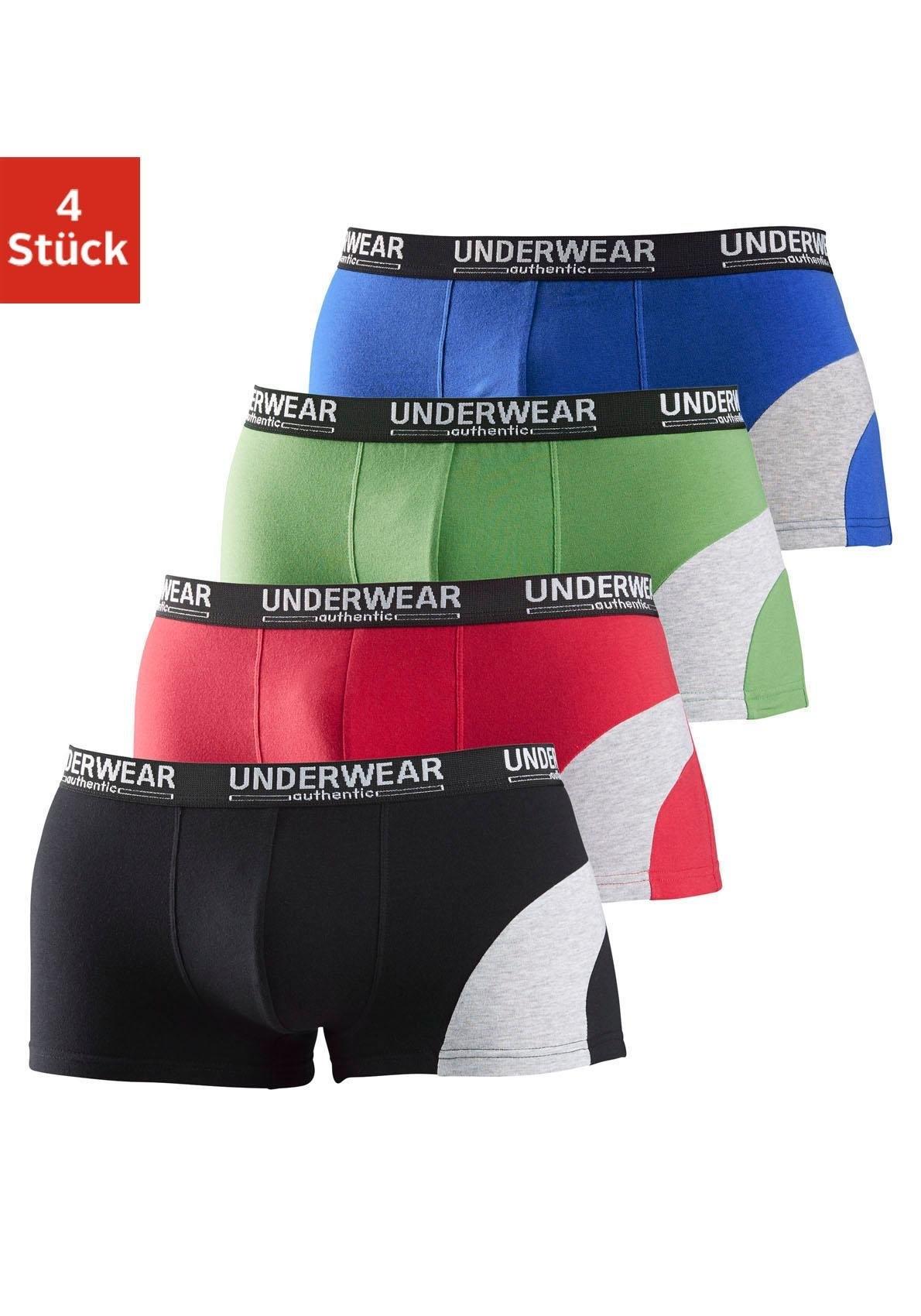 Op zoek naar een Authentic Underwear katoenen hipster (set van 4) met colourblocking, »Cotton made in Africa«? Koop online bij Lascana
