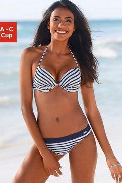 venice beach push-upbikinitop summer met gewatteerde cups wit