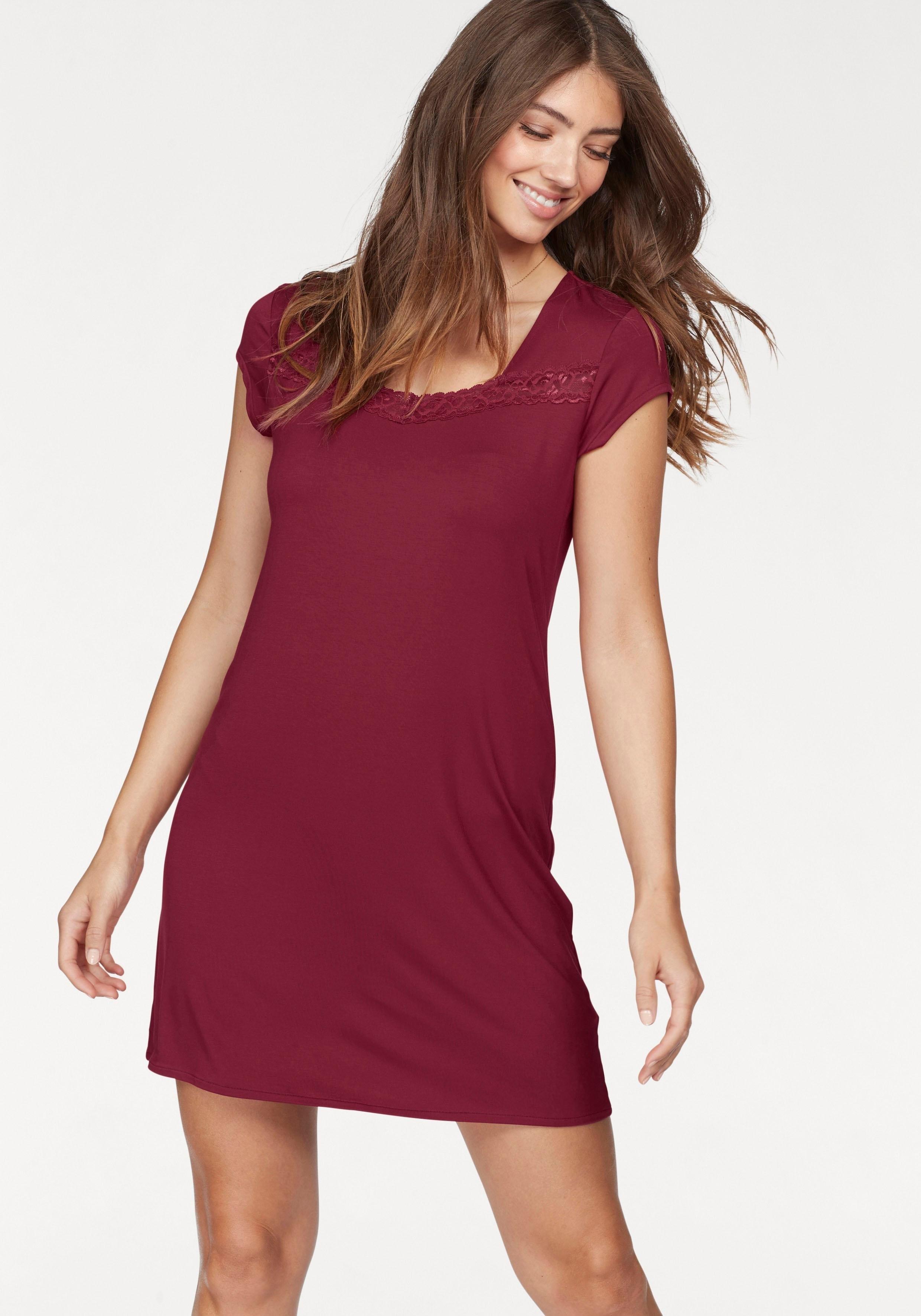 Calida Basic nachthemd »Eliza« met kant bestellen: 14 dagen bedenktijd