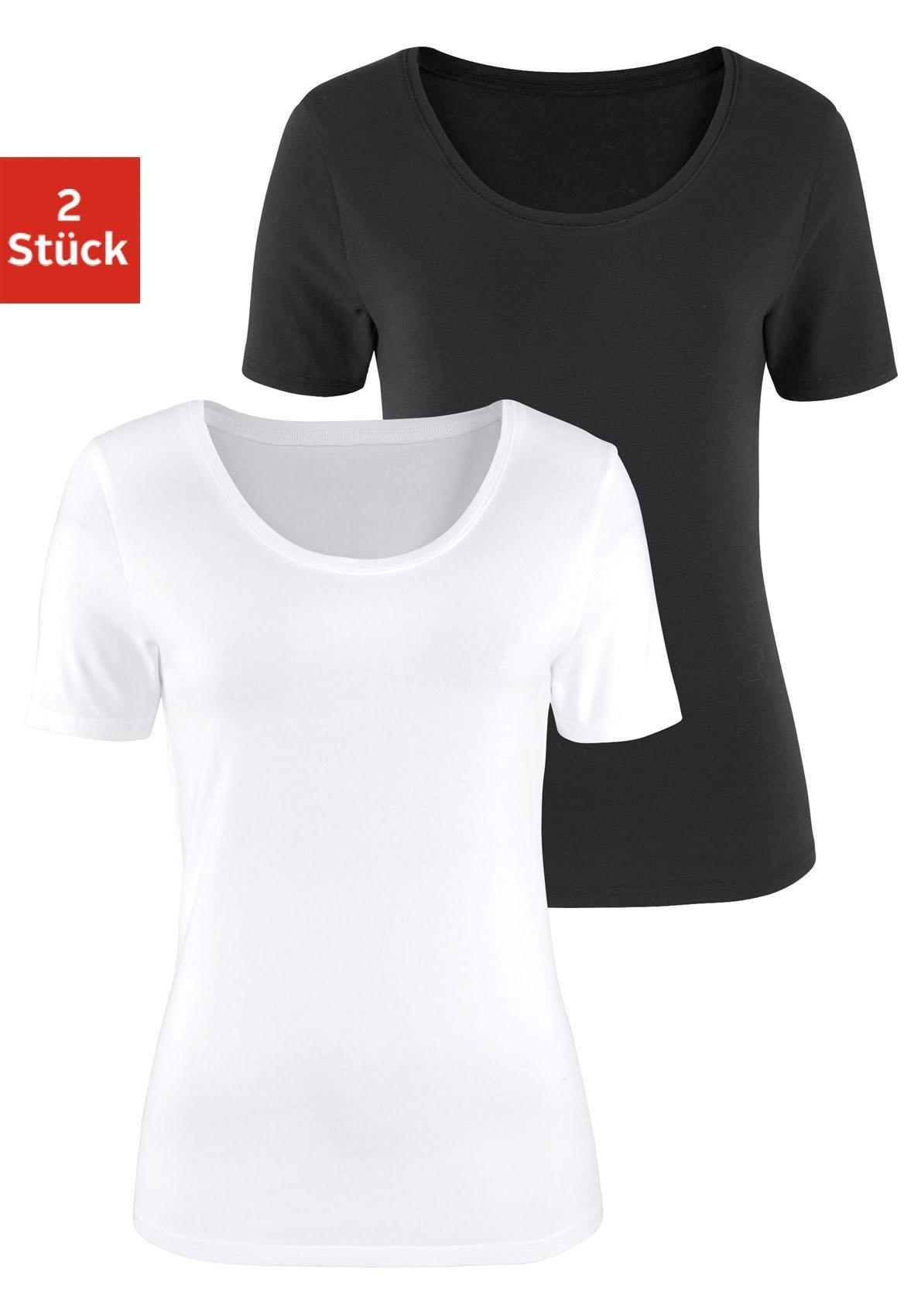 Vivance T-shirt (set van 2) online kopen op lascana.nl