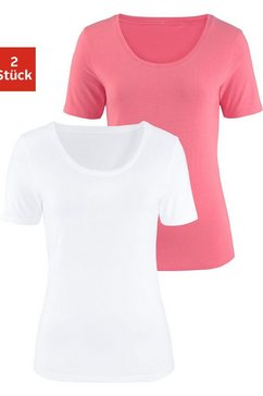 vivance t-shirt (set van 2) oranje