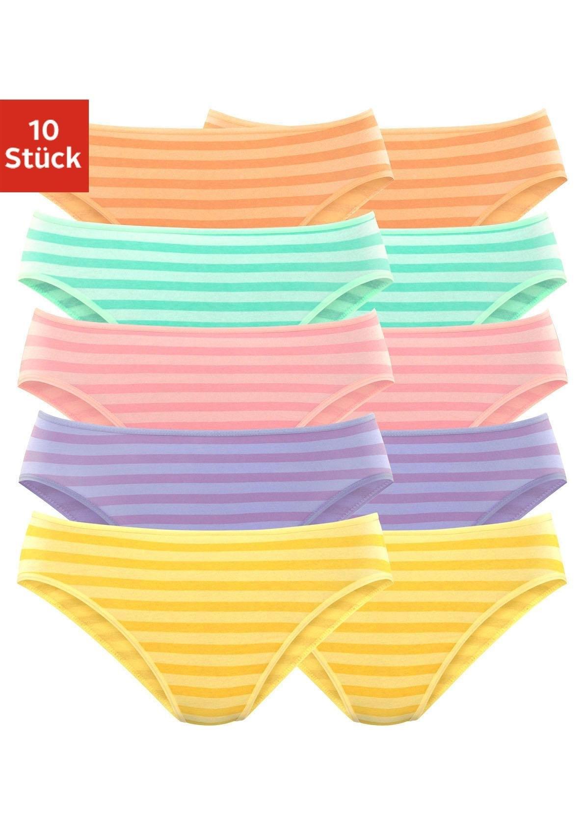Go in bikinibroekje met leuke streepprint (10 stuks) veilig op lascana.nl kopen