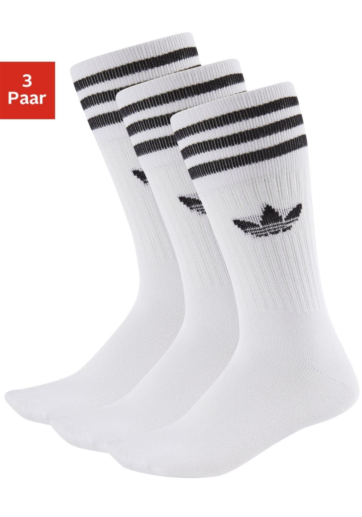 adidas Originals sokken CREW met klassiek merk en strepen (3 paar) online kopen op lascana.nl