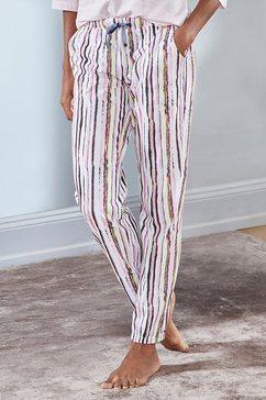 vivance dreams pyjamabroek motief all-over met velvetband wit