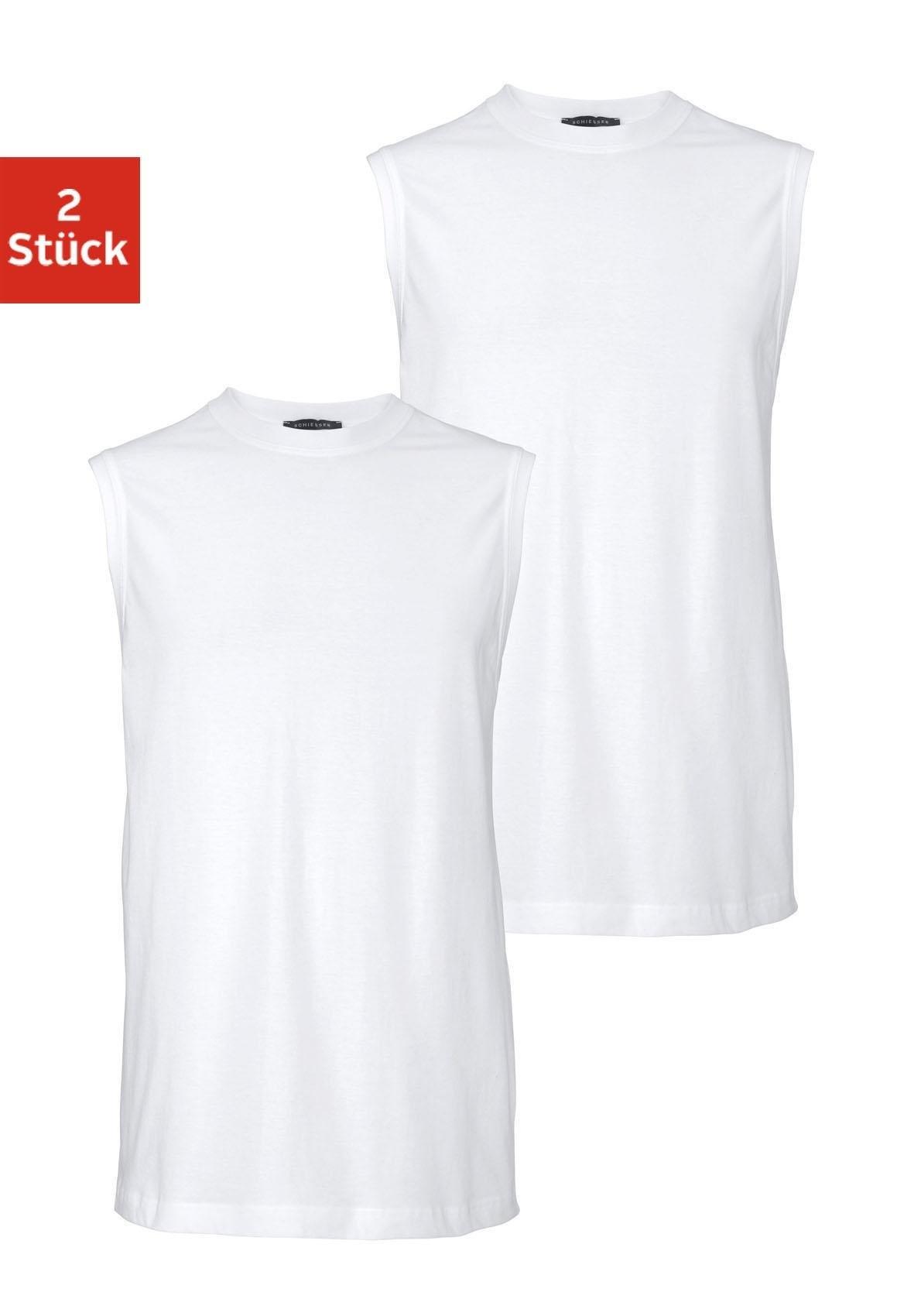 Schiesser muscle-shirt wit (set van 2) voordelig en veilig online kopen