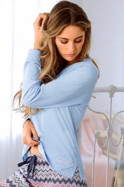 vivance dreams shirt met lange mouwen en v-hals blauw